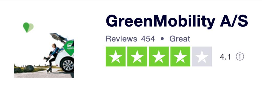 GreenMobility anmeldelser Trustpilot